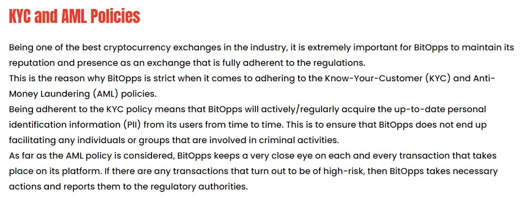 BitOpps AML and KYC Policies
